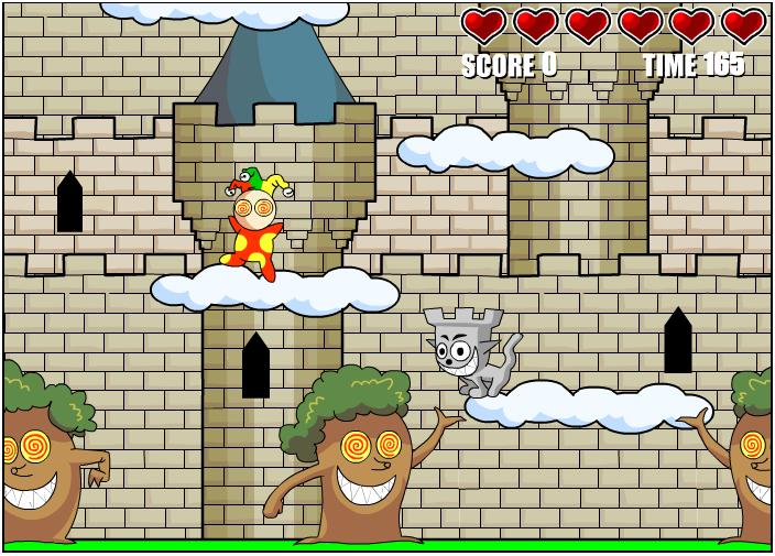Castle Cat: laat de kat over de wolken springen en ontwijk je tegenstander.